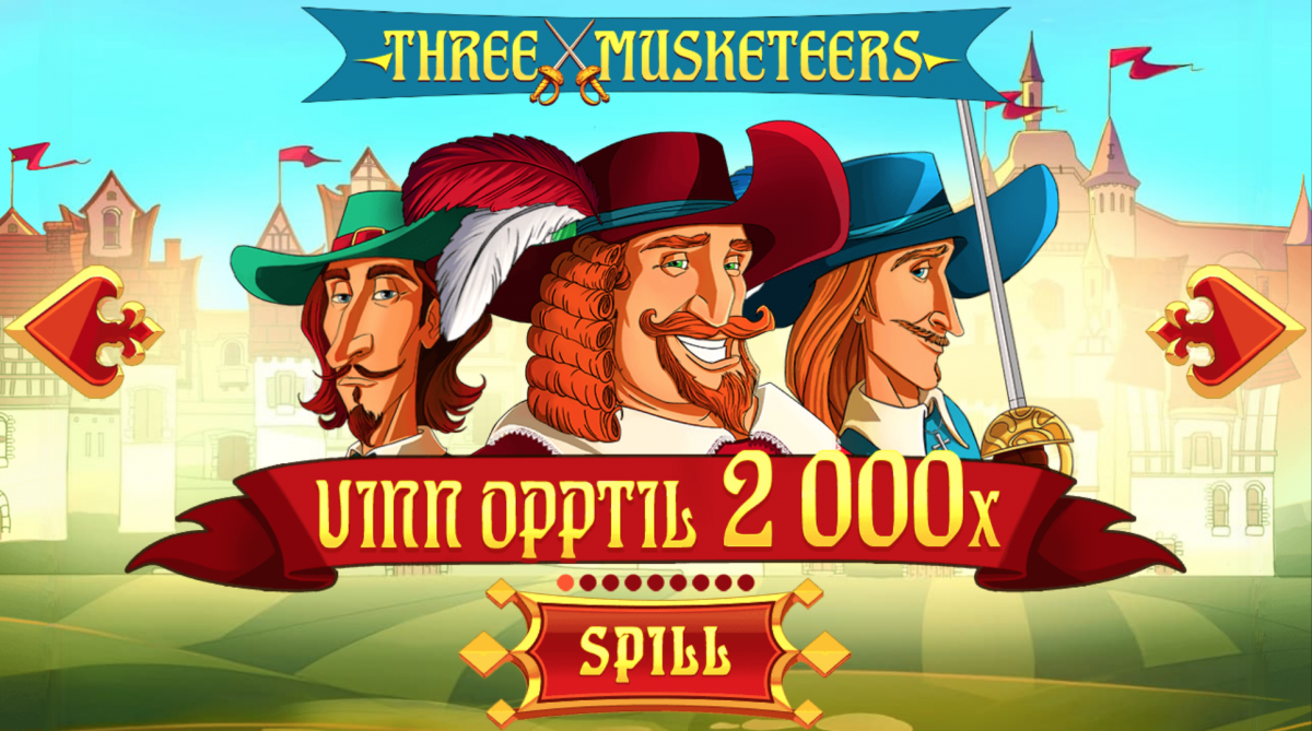 Spilleautomaten Three Musketeers fra Red Tiger Gaming
